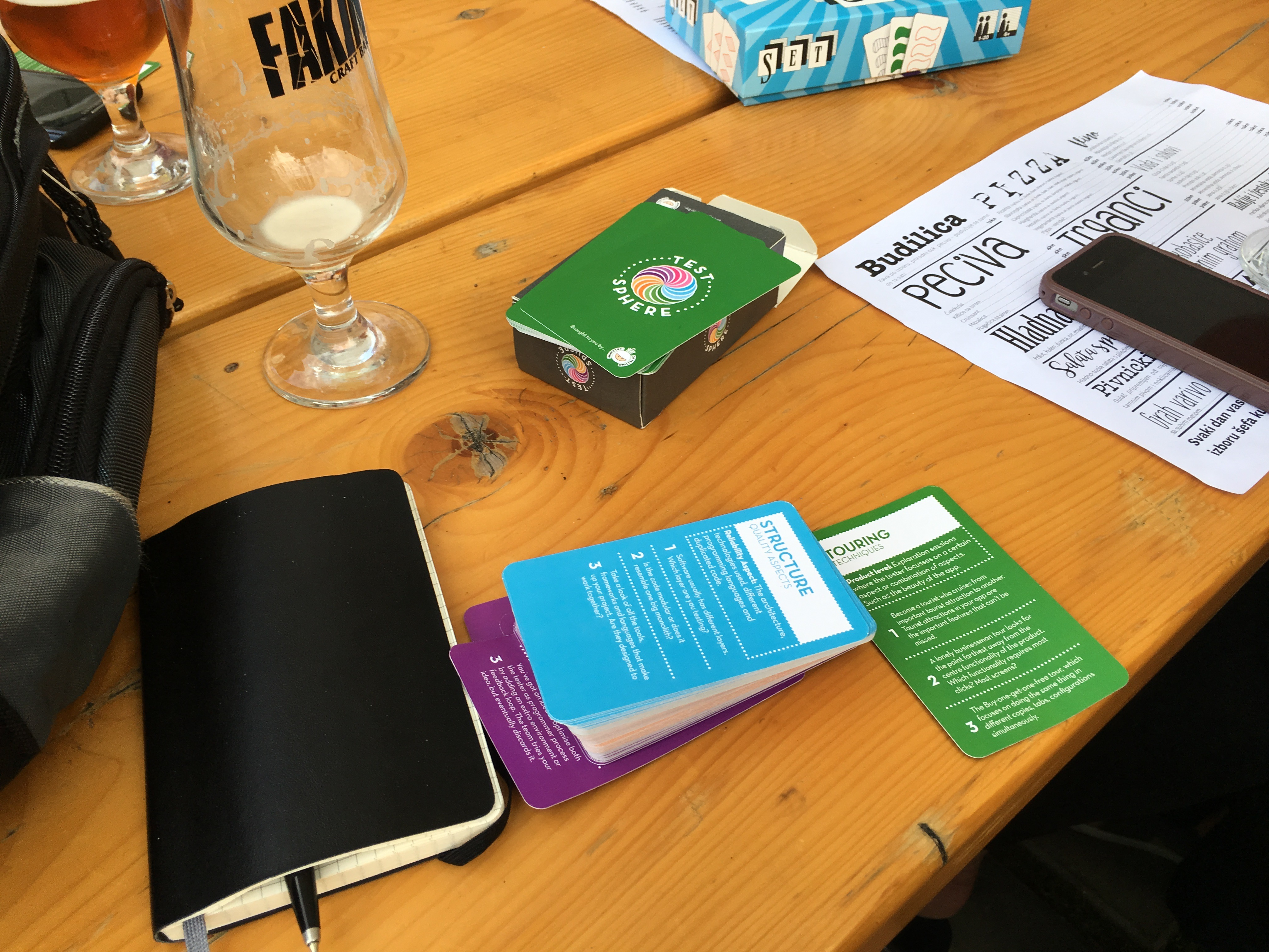What I learned at Testival #30: learning by playing card games