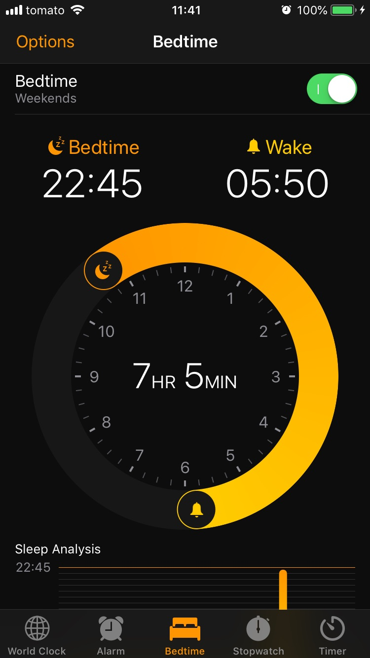 Bug advocacy example in iOS Clock application