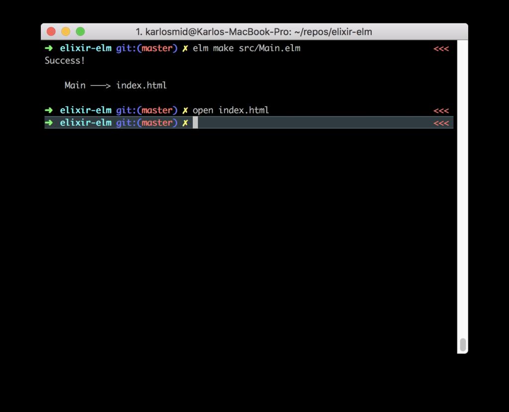 Compile Elm file