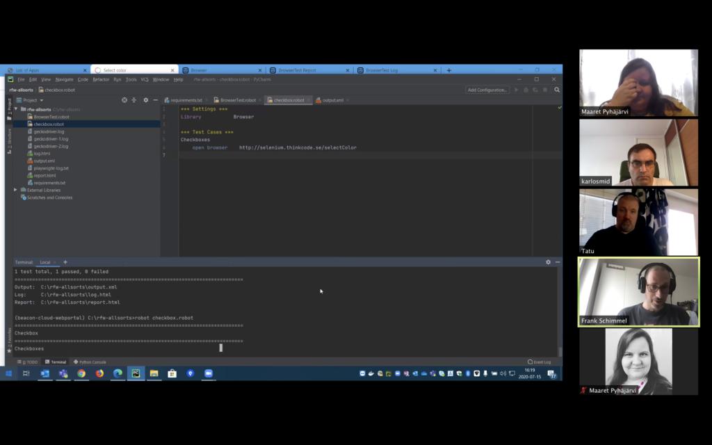 Zoom Robot Framework Mob Testing